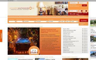 Verwöhnwochenende Webseiten Screenshot