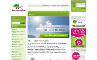 vfg.com Webseiten Screenshot