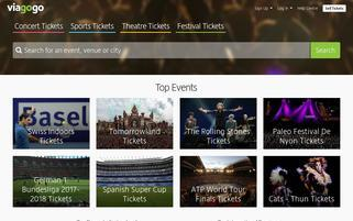 Viagogo CH Webseiten Screenshot
