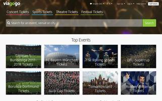 Viagogo Webseiten Screenshot