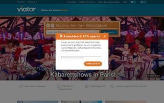 Viator Webseiten Screenshot