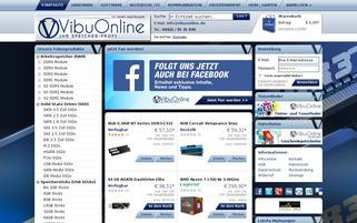 VibuOnline Webseiten Screenshot
