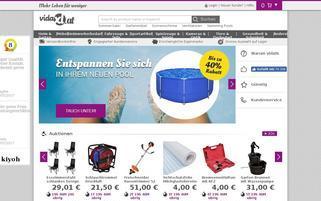 vidaXL Webseiten Screenshot