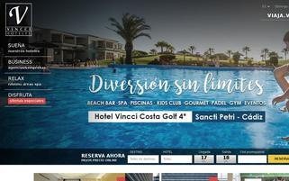 Vincci Hotels Webseiten Screenshot