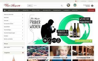 VineShop24 Webseiten Screenshot