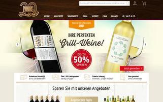 Vinos Webseiten Screenshot