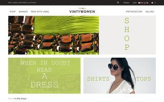 Vintywomen Webseiten Screenshot