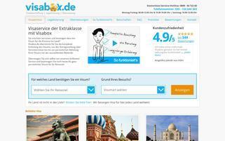 Visabox Webseiten Screenshot
