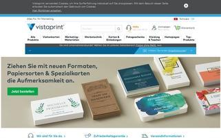 Vistaprint.ch Webseiten Screenshot