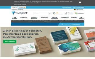 vistaprint.de Webseiten Screenshot