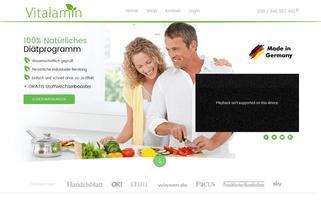 vitalamin.com Webseiten Screenshot