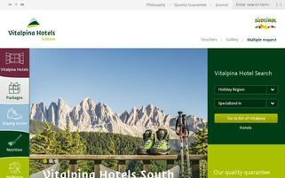 Vitalpina Webseiten Screenshot