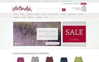 Vivanda Webseiten Screenshot