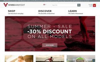 Vivobarefoot Webseiten Screenshot