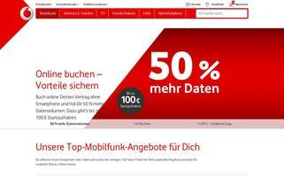 vodafoneshop.de Webseiten Screenshot