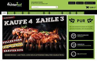 Vom Achterhof Webseiten Screenshot