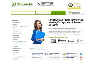 Vorlagen.de Webseiten Screenshot
