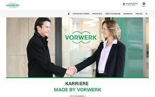 vorwerk.de Webseiten Screenshot