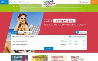Voyages SNCF Webseiten Screenshot