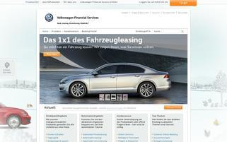 VW Bank Webseiten Screenshot