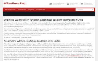 waermekissen-shop.de Webseiten Screenshot