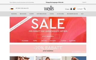 Wallis Webseiten Screenshot