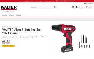Walter Werkzeuge Webseiten Screenshot