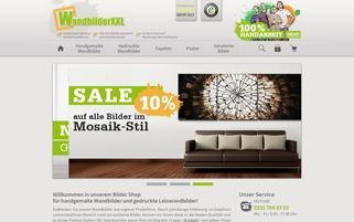 wandbilderxxl.de Webseiten Screenshot