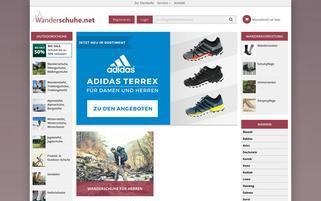 Wanderschuhe.net Webseiten Screenshot