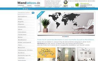 wandtattoos.de Webseiten Screenshot