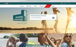 Warehouse One Webseiten Screenshot