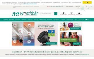 Waschbär Webseiten Screenshot