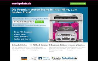 Waschpakete Webseiten Screenshot