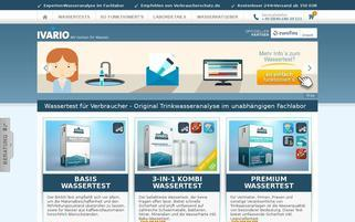 wassertest-online.de Webseiten Screenshot