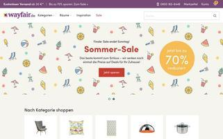 Wayfair Webseiten Screenshot