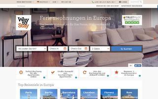 WayToStay Webseiten Screenshot