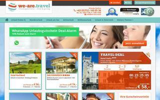We are Travel Webseiten Screenshot