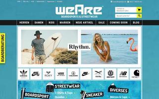 Weare Webseiten Screenshot