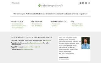 webseitenspeicher.de Webseiten Screenshot