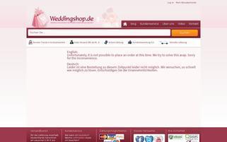 Weddingshop Webseiten Screenshot
