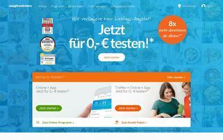 Weight Watchers Webseiten Screenshot
