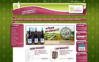 Weine der Pfalz Webseiten Screenshot