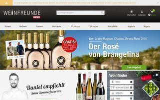 Weinfreunde Webseiten Screenshot