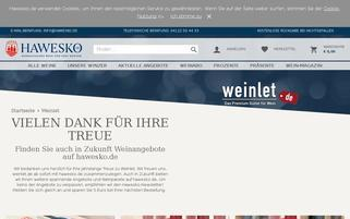 Weinlet Webseiten Screenshot