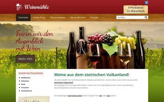 weinmuehle.at Webseiten Screenshot