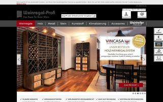Weinregal-Profi Webseiten Screenshot