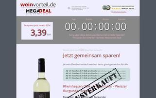 weinvorteil-megadeal.de Webseiten Screenshot