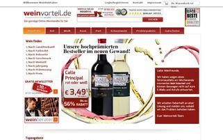 Weinvorteil Webseiten Screenshot