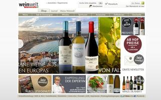 Weinwelt Webseiten Screenshot