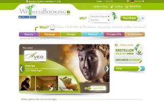 WellnessBooking Webseiten Screenshot